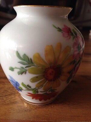 MPM reine Handarbeit 24 Karat Gold Vase und Triptis Kerzenleuchter Tischdeko