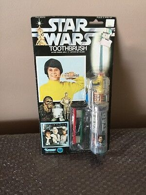 Buy cheap vintage kenner star wars rare electric toothbrush set mint the card