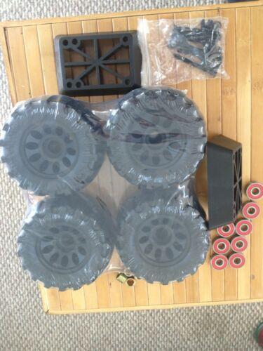 Extreme Off Road Skateboard Longboard Wheels 103Mm X62Mm Red