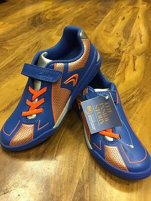 Clarks Air Boys Sport Shoes, Blue Combi Leather Size 13,5F  NEW