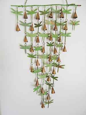 Shimmering Bells & Dragonflies Wind Chime Dragonfly Garden Yard Art Windchime ()