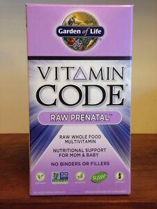 Garden of Life Vitamin Code Raw Prenatal 180 Capsules Wholefood Prenatal Multi