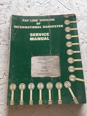 International Harvester T6 Td6 T9 Td9 Crawler Service Repair Manual