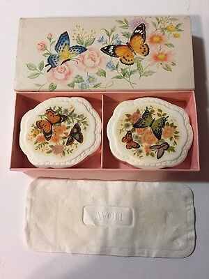 Vintage Avon Fragranced Hostess soaps Butterflies and Blossoms NIB 2 3 oz soaps