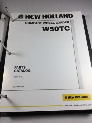 New Holland W50tc Wheel Loader Parts Catalog Manual