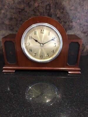 Untested As Found Antique Wurttemberg Mantel Electric Clock 8x6""