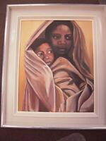 Original Painting of Mother & Child