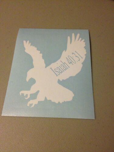 Eagle With Bible Verse Isaiah 40:31 Vinyl Die Cut Decal,car,