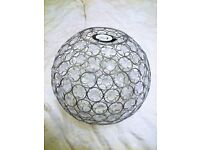 LARGE GLOBE CLEAR BEADED CEILING LIGHT SHADE
