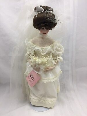 1991 PARADISE GALLERIES PORCELAIN DOLL-CATHERINE-PATRICIA ROSE-PREMIER EDITION