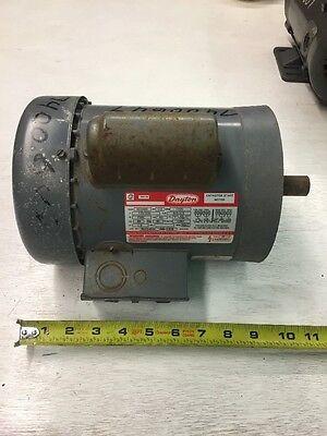 Dayton 1/2HP Capacitor Start Motor, Mod: 6K342K, Single - Capacitor Start Single Phase Motor