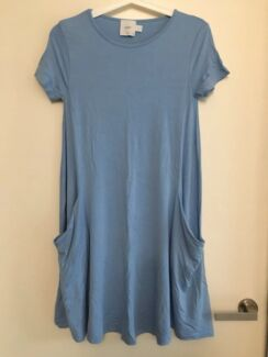 ASOS maternity tunic dress in Blue size uk8/au8