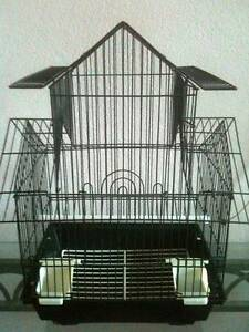 Small Portable Black Wire Bird Cage Pitched Roof Bexley Rockdale Area Preview