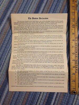 The Boston Declaration May 18  1950 Massachusetts Investors Trust Paper Ephemera