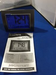 AcuRite 7-inch Atomic Alarm Clock with Date, Day of Week and Temperature 13131A4