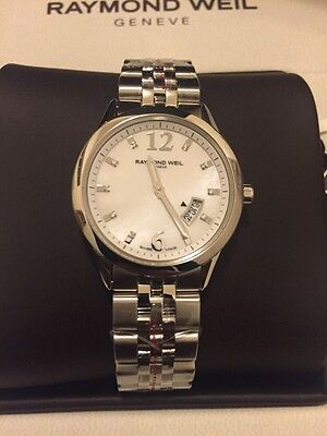 Raymond Weil Women's Watch 5670-ST-05985 Retail $1450 (Needs New Battery)