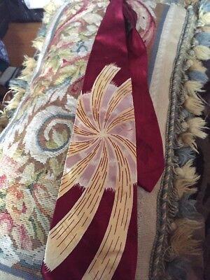 1940s Mens Ties | Wide Ties & Painted Ties Vintage Satin/silk  1940s Fireworks Look Neck Tie $28.00 AT vintagedancer.com