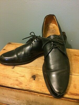 Vtg 50s 60s Florsheim Black Leather Dress Shoes Mens 12 AA Oxford Style Pointy](50s Shoes Mens)