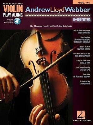 Andrew Lloyd Webber Hits Violin Play-Along Book and Audio NEW 000244688 Andrew Lloyd Webber Violin