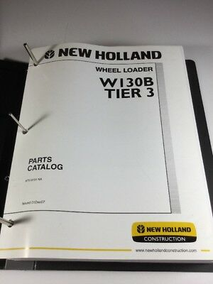 New Holland W130b Tier 3 Wheel Loader Parts Catalog Manual