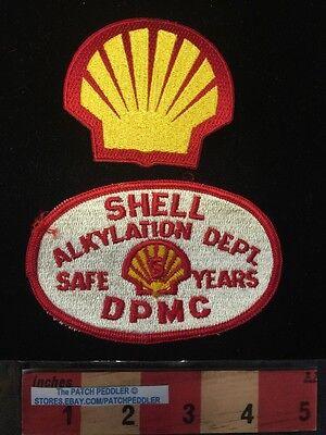 Shell Logo Patch Lot   Alkylation Dept Dpmc 5 Safe Subsidiary Of Royal Dutch 61Z