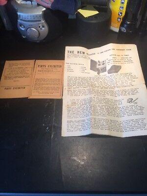 Vintage Visulite Tv Radio Tube Checker Instruction Sheet Original