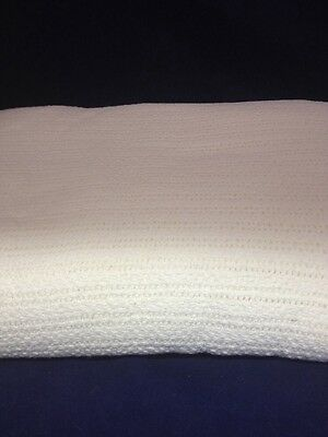 NEW 66x90 Thermal Weave White Cotton Hospital Bed Blanket