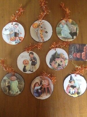 Bethany Lowe Halloween Disc Ornaments-- Set Of 8--retired