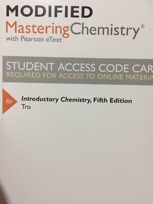 Modified MasteringChemistry with Pearson eText Introductory Chemistry 5th