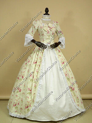 Renaissance Colonial Fantasy Dress Ball Gown Theatre Halloween Costume N 146 L - Fantasy Halloween Costumes