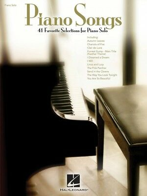 Piano Songs Sheet Music Piano Solo SongBook NEW 000312288