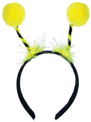 Bienen Haarreif zum Kostüm mit gelben Bommeln Party Fasching Zubehör Bienekostüm
