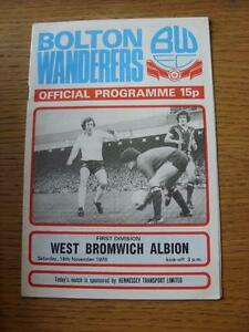 18-11-1978-Bolton-Wanderers-v-West-Bromwich-Albion-Item-has-no-apparent-faults