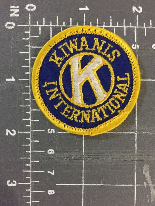 Vintage Kiwanis International Logo Patch Coeducational Service Club Detroit MI