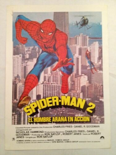 Spiderman 2 , 1978 Tv ,  Spanish  Mini Poster