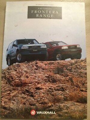 Vauxhall Frontera Range Brochure - November 1991