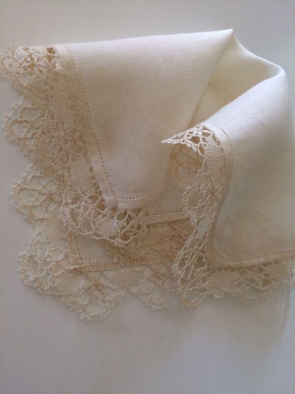 Vintage Bridal Lace Wedding Hankies Handkerchief Hanky Collect Heirloom Linen