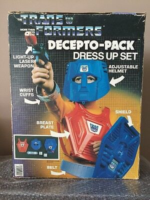 Transformer Dress Up (RARE HG TOYS VINTAGE 1985 TRANSFORMERS Decepto-Pack DRESS-UP SET COSTUME HASBRO)