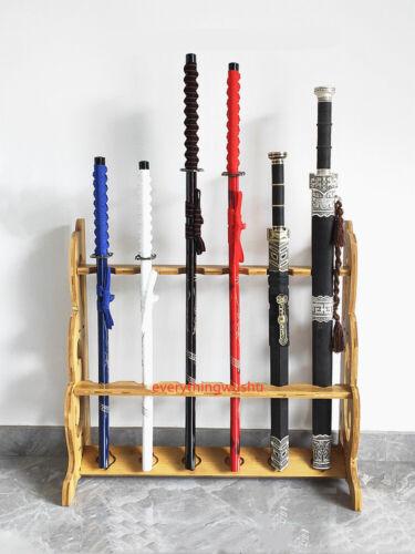 Wooden Weapon Racks Sword Stands