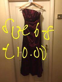 Burgundy gothic style dress