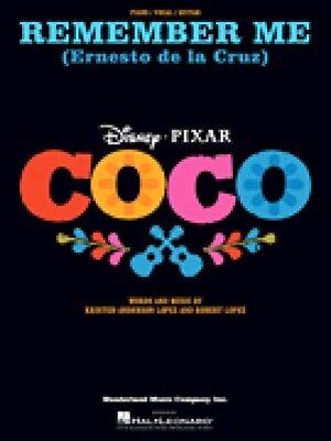 Remember Me Ernesto de la Cruz from Coco Sheet Music Piano Vocal 000277172