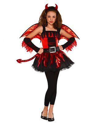Girls Daredevil Costume Halloween Child Teen Red Devil Fancy Dress - Teen Devil Girl Kostüm