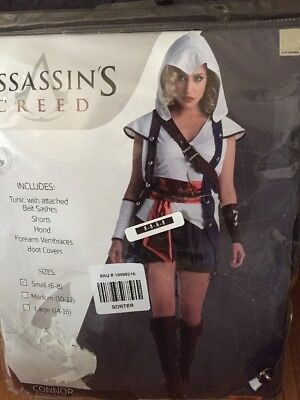 WOMENS ASSASSIN'S CREED CONNOR COSPLAY HALLOWEEN COSTUME Size Small 6-8