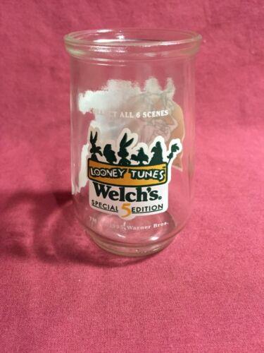 1995 Welch's Looney Tunes Special Edition Jelly Jar Glass #5 Tasmanian Devil