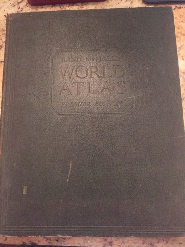 RARE Vintage/Antique Rand McNally World Atlas Premier Edition - 1929 Copyright