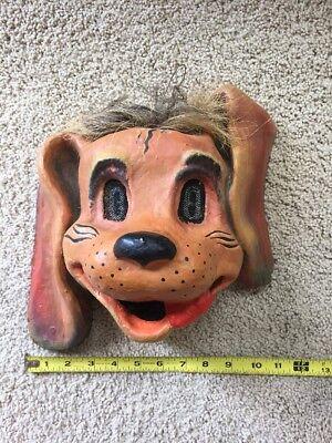 Antique Dog Papier-Mâché Mask