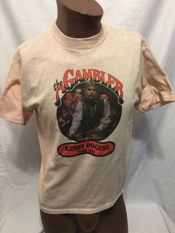 1979 Kenny Rogers Shirt Vintage The Gambler Tour Hold Em Fold Em Rare 70s Large