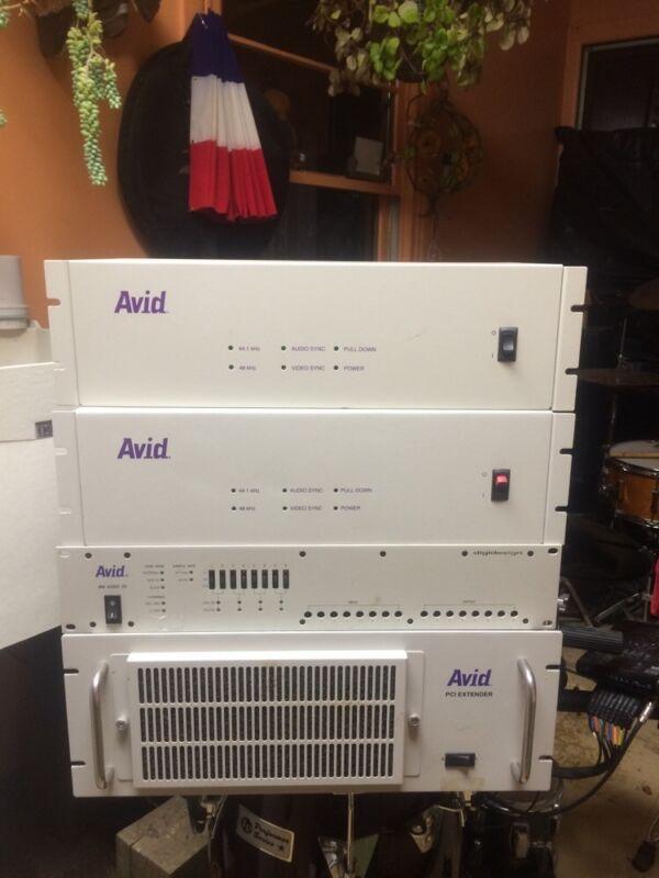 Avid PCI extender + Avid 888 Audio I/O+ (2) Avid 00220 AVID STACK
