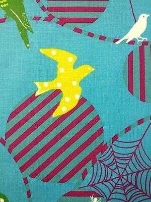 EK16 Echino Bird Spider Web Kokka  Nature Japan Cotton Fabric Quilt Fabric