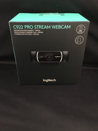 Brand New Logitech C922 Pro Stream Webcam Full 1080p 30fps H
